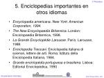 5 enciclopedias importantes en otros idiomas