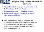 scope of study steam distribution network