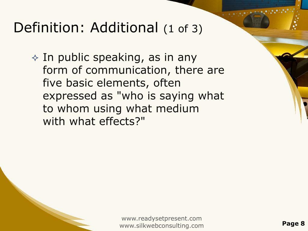 Definition: Additional