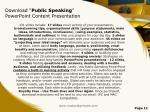 download public speaking powerpoint content presentation