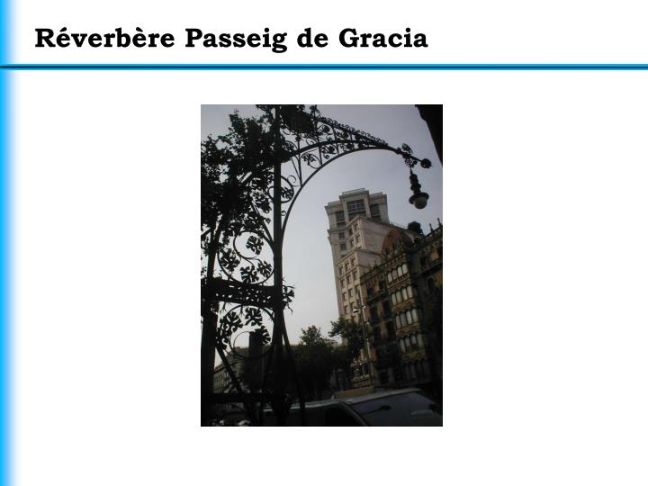 Réverbère Passeig de Gracia