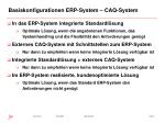 basiskonfigurationen erp system caq system