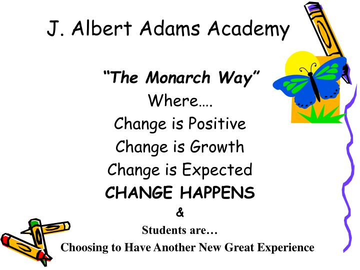 J albert adams academy