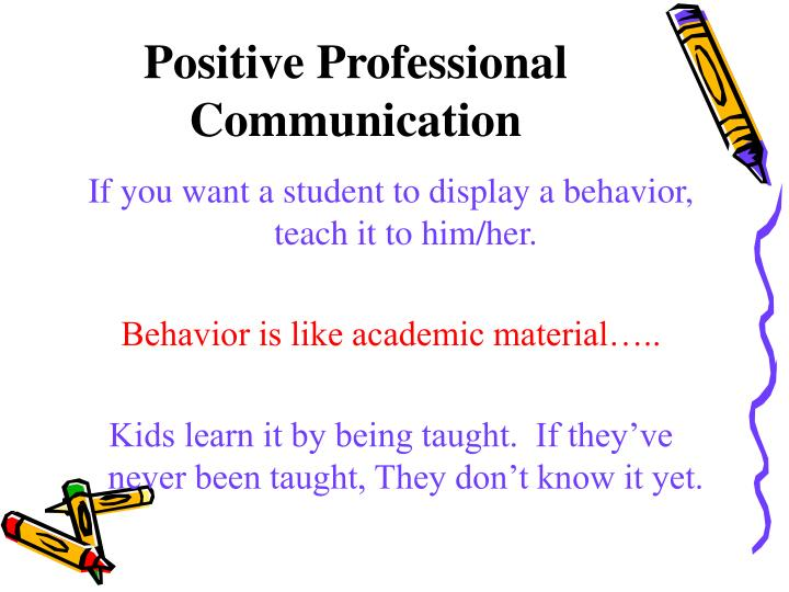 Positive Professional Communication