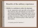 benefits of the military experience2