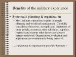 benefits of the military experience3