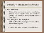 benefits of the military experience4