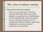 the value of military training