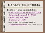 the value of military training1