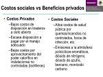 costos sociales vs beneficios privados