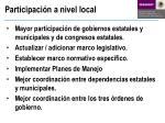 participaci n a nivel local