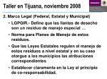 taller en tijuana noviembre 20082