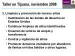 taller en tijuana noviembre 20083