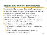 prop sito de las pruebas de disoluci n in vitro