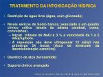 tratamento da intoxica o h drica