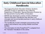 early childhood special education handbooks