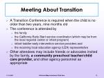 meeting about transition