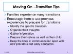 moving on transition tips