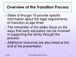 overview of the transition process