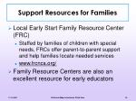 support resources for families