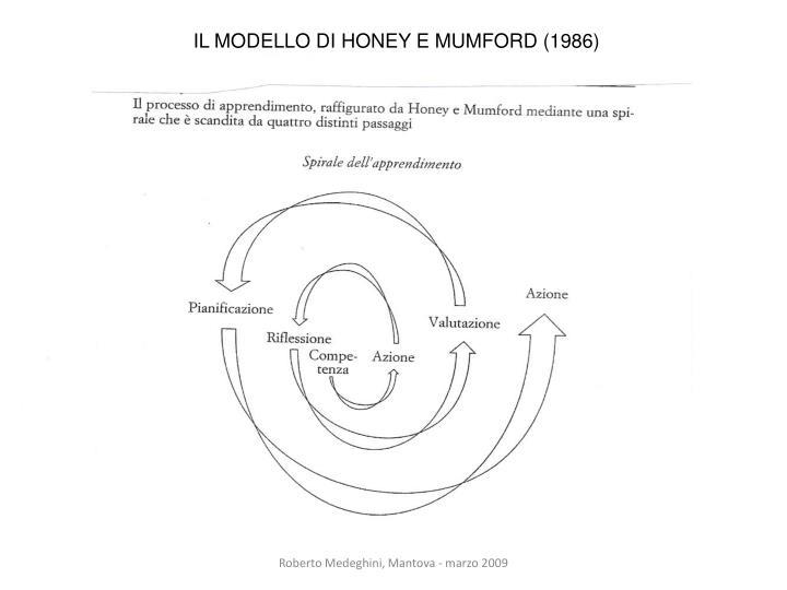 IL MODELLO DI HONEY E MUMFORD (1986)