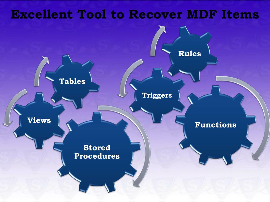Excellent Tool to Recover MDF Items