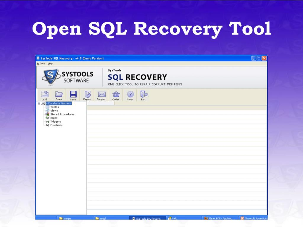 Open SQL Recovery Tool
