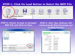step 1 click on load button to select the mdf file