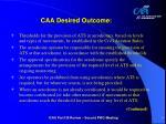 caa desired outcome5