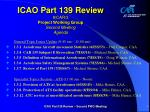 icao part 139 review 8 car 3 project working group second meeting agenda1
