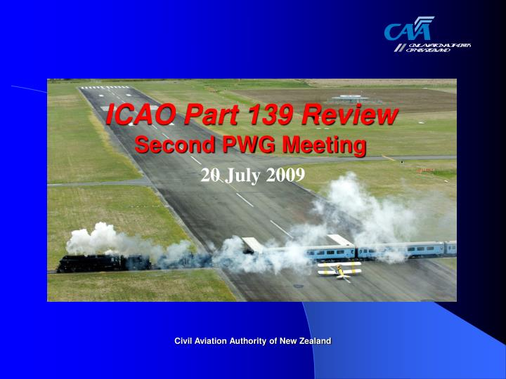 icao part 139 review second pwg meeting n.
