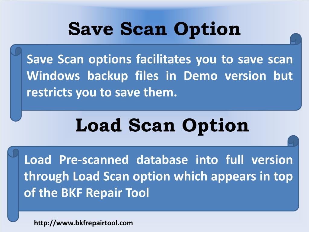 Save Scan Option