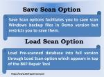 save scan option