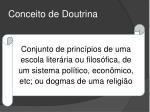 conceito de doutrina