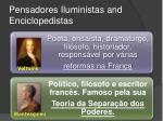 pensadores iluministas and enciclopedistas