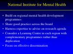 national institute for mental health