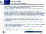 medicare bill the ten commandments