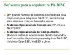 softwares para a arquitetura pa risc
