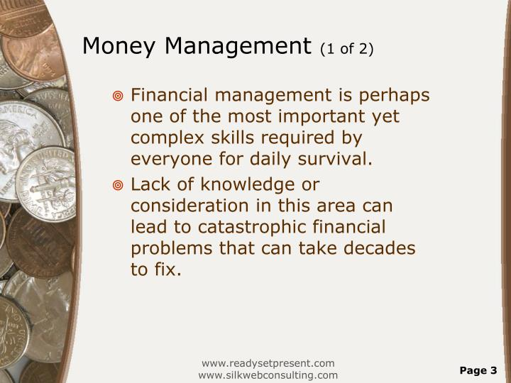 Money management 1 of 2
