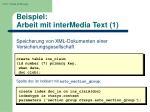 beispiel arbeit mit intermedia text 1