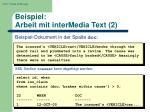 beispiel arbeit mit intermedia text 2
