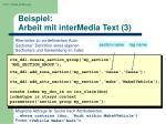 beispiel arbeit mit intermedia text 3