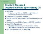 oracle 9i release 2 objektrelationale speicherung 1