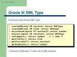 oracle 9i xml type