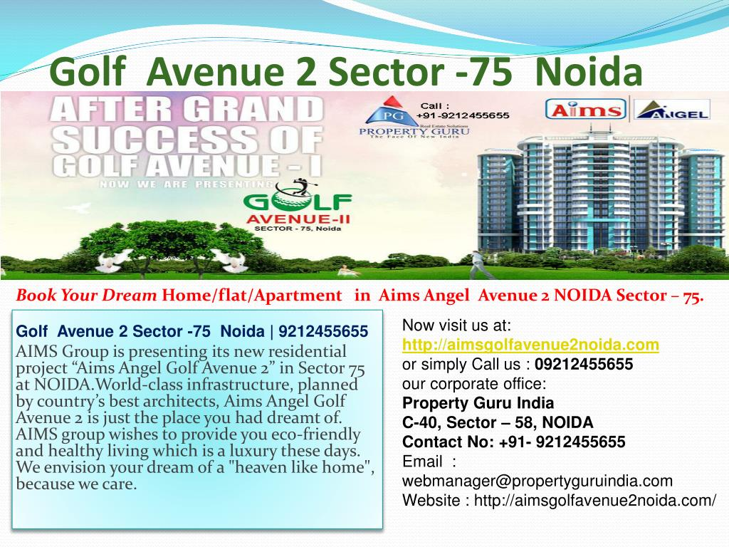 golf avenue 2 sector 75 noida l.