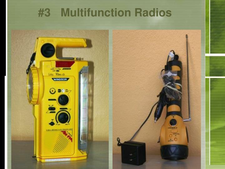 #3Multifunction Radios