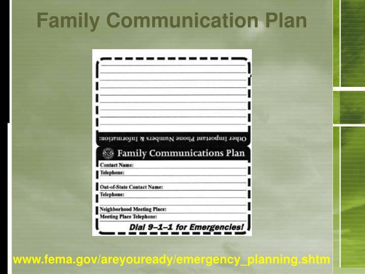Family Communication Plan