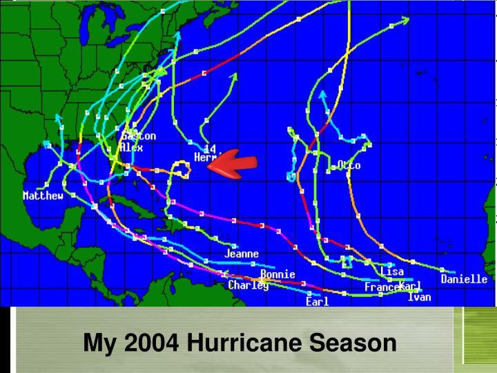 My 2004 hurricane season