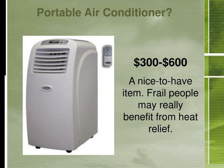 Portable Air Conditioner?