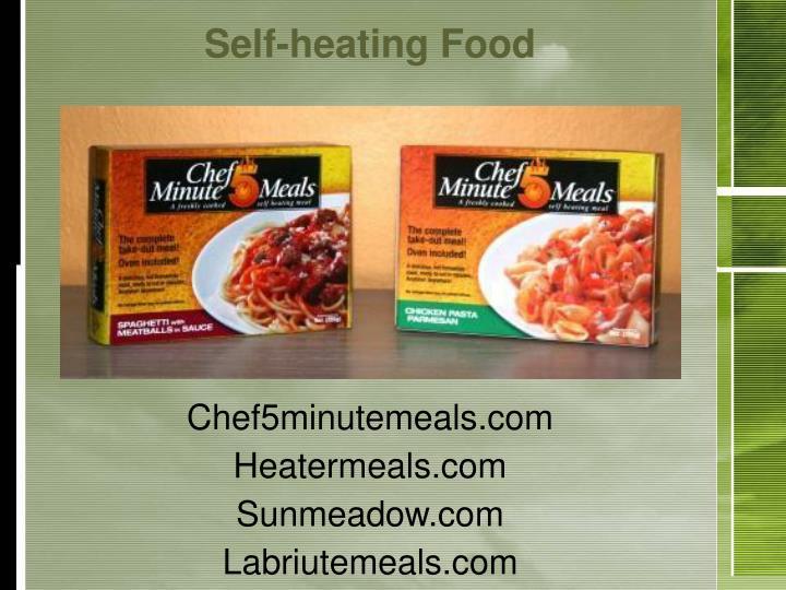 Self-heating Food